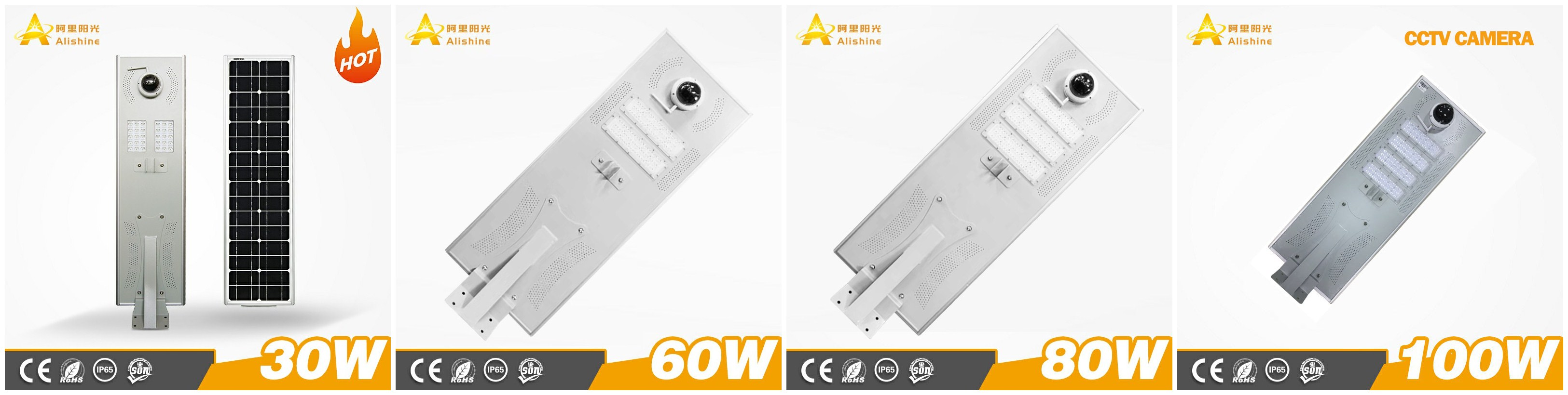 Standalone smart solar-powered street light with CCTV Camera
