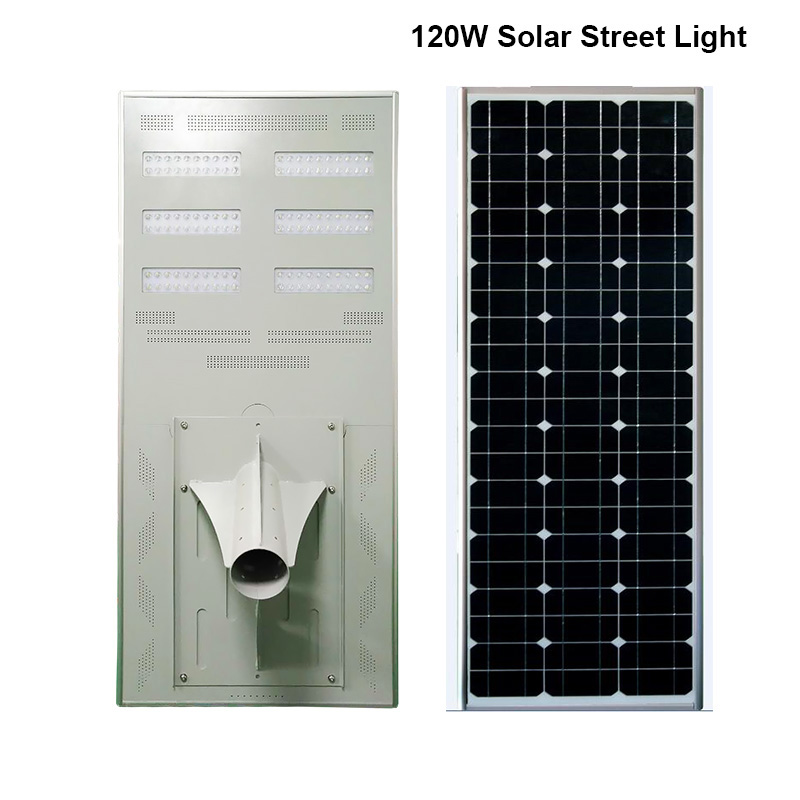 120W Good Price Solar Powered LED Street Light