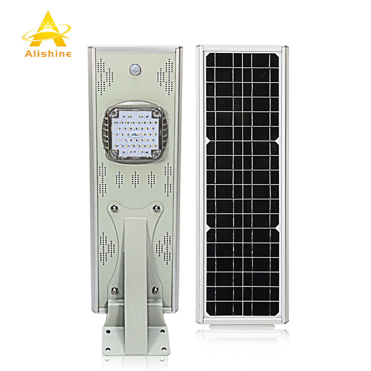 All in One Integrated Solar Street Light Pole 20w Led Solar Street Light