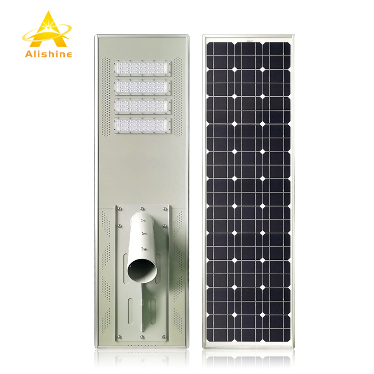 Government Project All in One Solar Street Light 100w Integrated Solar Outdoor Lights